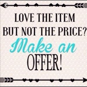 Will accept  REASONABLE offers on items over $10!